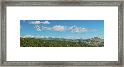 Framed Print featuring the photograph Sugar Magnolia Summer Rocky Mountain Peaks Panorama View by James BO Insogna