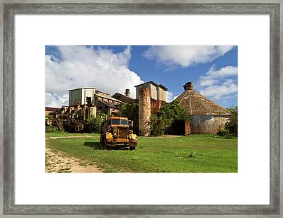 Sugar Mill And Truck Framed Print