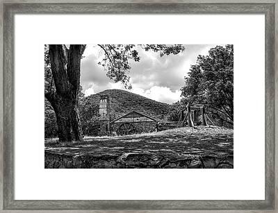 Sugar Plantation Ruins Bw Framed Print