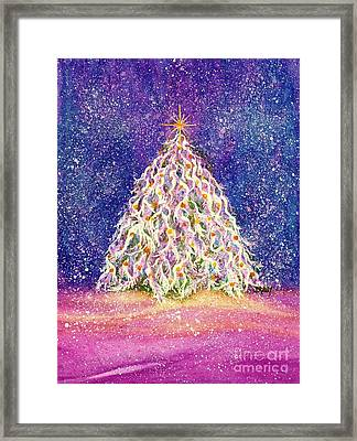 Sugar Plum Forest  - Christmas Tree Framed Print