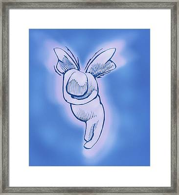 Framed Print featuring the drawing Sugar Plum by Keith A Link