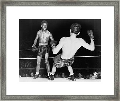 Sugar Ray Robinson 1921-1989 Watching Framed Print by Everett
