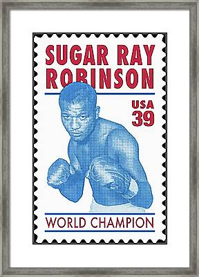 Sugar Ray Robinson Framed Print by Lanjee Chee