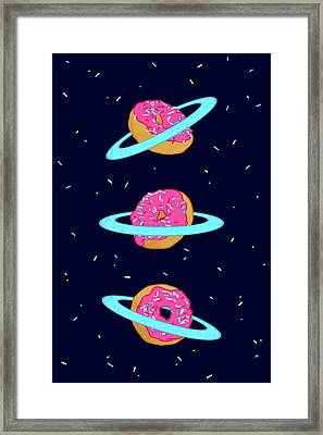 Sugar Rings Of Saturn Framed Print by Evgenia Chuvardina