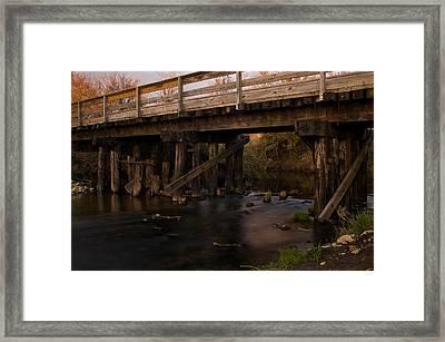 Sugar River Trestle Wisconsin Framed Print by Steve Gadomski
