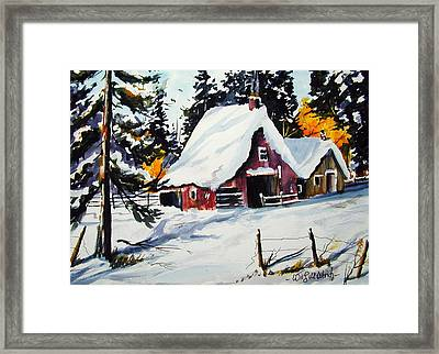 Sugar Shack At Grande Mere Framed Print by Wilfred McOstrich