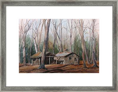 Sugar Shack Framed Print by Debbie Homewood