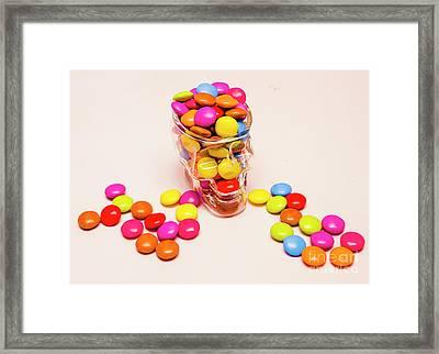 Sugar Skull Candy Jar Framed Print