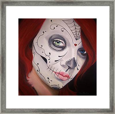 Sugar Skull Girl #1 Framed Print by Brian Broadway