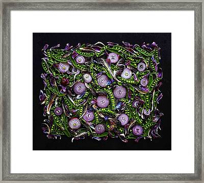 Sugar Snap Peas And Red Onion Mix Framed Print