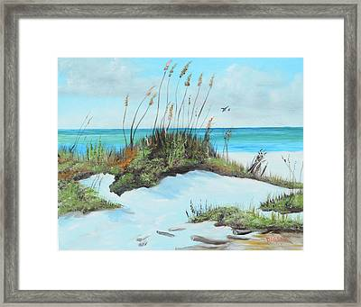 Sugar White Beach Framed Print