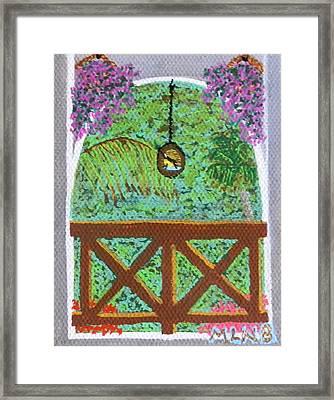 Sugarbird Feeding Framed Print
