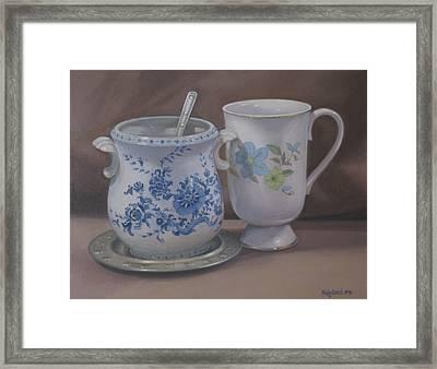 Sugarbowl And Teacup Framed Print