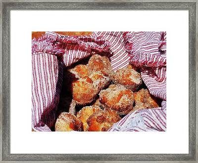 Sugared Donut Holes Framed Print