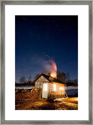 Sugaring Time Framed Print