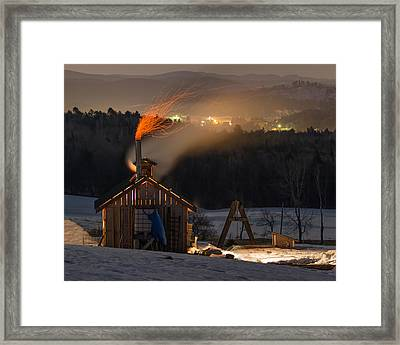 Sugaring View Framed Print by Tim Kirchoff