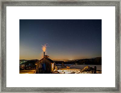 Sugaring View With Stars Framed Print