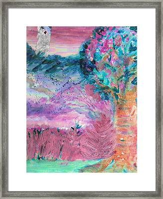 Sugarland Dream Tree  Framed Print by Anne-Elizabeth Whiteway
