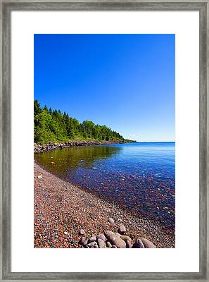 Sugarloaf Cove Framed Print by Bill Tiepelman