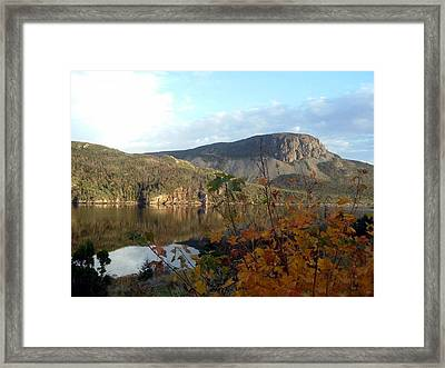 Sugarloaf Hill In Autumn Framed Print by Barbara Griffin