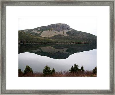 Framed Print featuring the photograph Sugarloaf Hill Reflections by Barbara Griffin