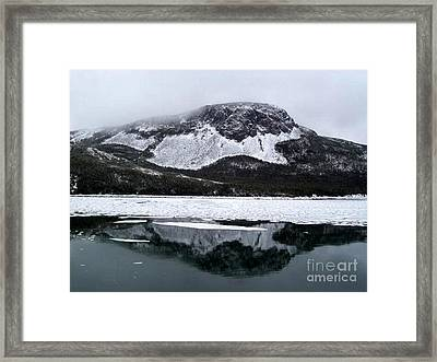 Sugarloaf Hill Reflections In Winter Framed Print by Barbara Griffin