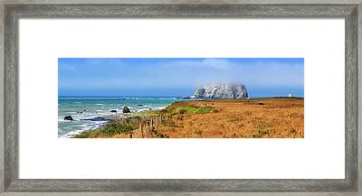 Framed Print featuring the photograph Sugarloaf Island Panorama by James Eddy