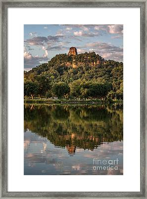 Sugarloaf Reflection Winona Framed Print
