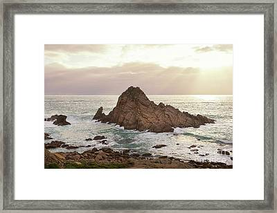 Framed Print featuring the photograph Sugarloaf Rock Sunset by Ivy Ho