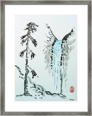 Sugi To Taki Framed Print
