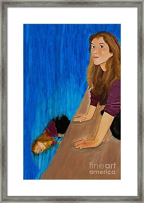 Suicide By Water Framed Print by Doc Braham
