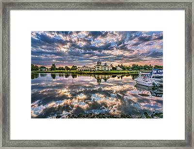 Suisun Yacht Club Framed Print