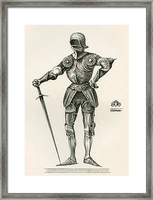 Suit Of Gothic Armour, Known As   La Framed Print