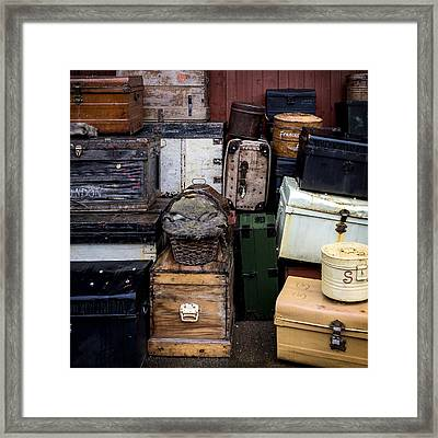 Suitcases Framed Print