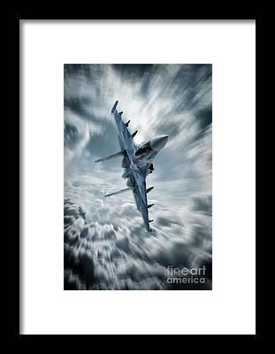 Sukhoi Framed Prints