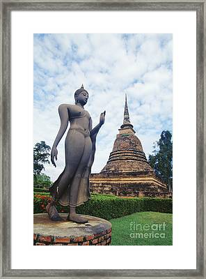 Sukhothai Historical Park Framed Print by Bill Brennan - Printscapes