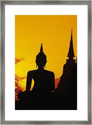 Sukhothai Temple Framed Print by Gloria & Richard Maschmeyer - Printscapes