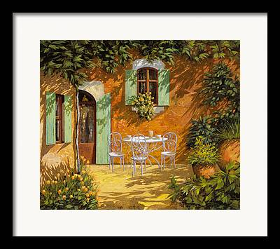 Courtyard Framed Prints