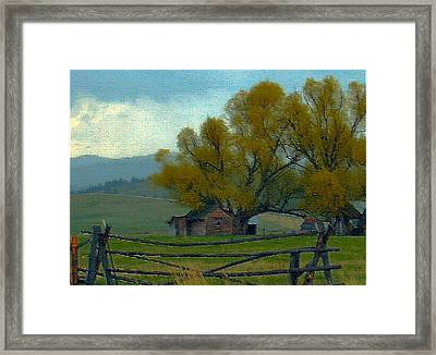 Sula Montana Homestead Framed Print