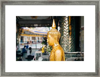 Framed Print featuring the photograph Sule Pagoda Buddha by Dean Harte