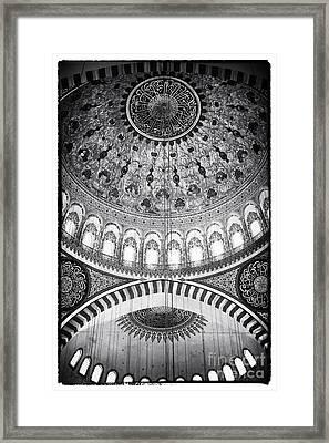 Suleymaniye Ceiling Framed Print by John Rizzuto