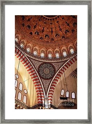 Suleymaniye Interior Framed Print by John Rizzuto