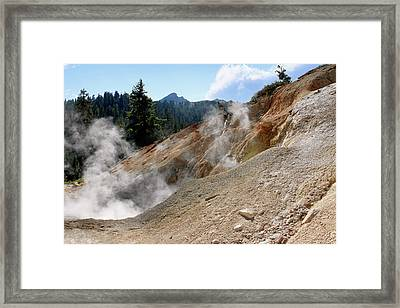 Sulfur Works In Lassen Volcanic Park Framed Print by Christine Till