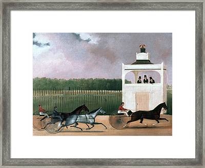 Sulky Race Framed Print by Granger
