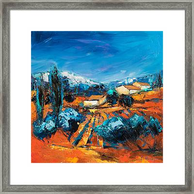 Sulla Collina Framed Print by Elise Palmigiani