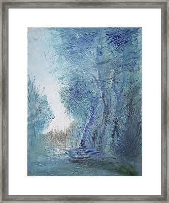 Sulle Soglie Del Bosco Framed Print by Michel Croteau