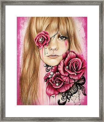 Sullenly Sweet  Framed Print by Sheena Pike