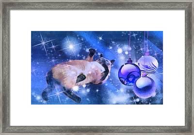 Sulley's Christmas Blues Framed Print