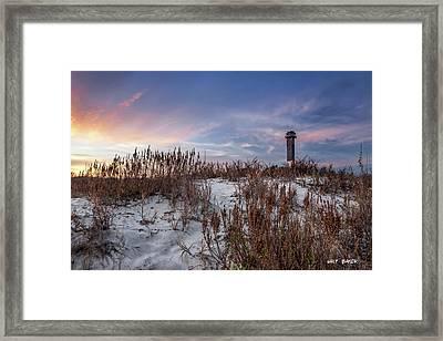 Sullivan's Island Landmark Framed Print by Walt  Baker