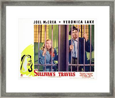 Sullivans Travels, Veronica Lake, Joel Framed Print